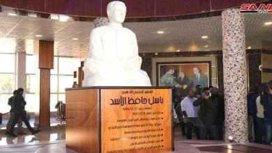 """صورة نظام الأسد يفتتح متحف"""" الباسل"""" في اللاذقية وأبرز مقتنياته """"بوط عسكري"""" (صورة)"""