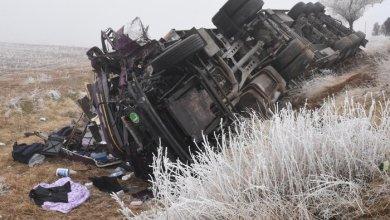 صورة حادث مروري مروع لـ7 سيارات على طريق سريع شرق تركيا يخلف قتلى وجرحى