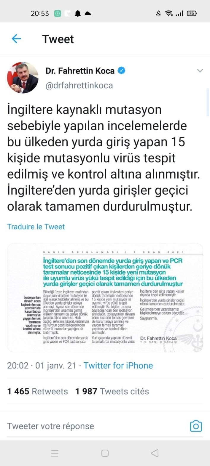 .jpg - عاجل.. تشخيص العديد من الإصابات بسلالة فيروس كورونا المستجد كوفيد-20 في تركيا