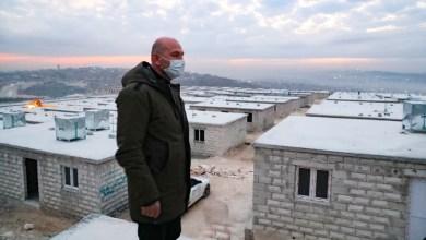 صورة صويلو سليمان وزير الداخلية التركية في ثالث زيارة له الى سوريا