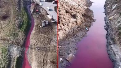صورة تحول لون المياه في مدينة إسطنبول إلى الأحمر وقـ.ـ لق كبير بين المواطنين.. ما السبب
