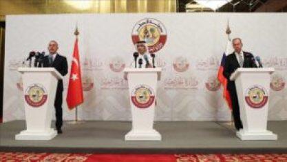 روسيا قطر 300x169 - هدف إطلاق مسار التسوية السورية الجديد مع قطر وروسيا.. تركيا توضح