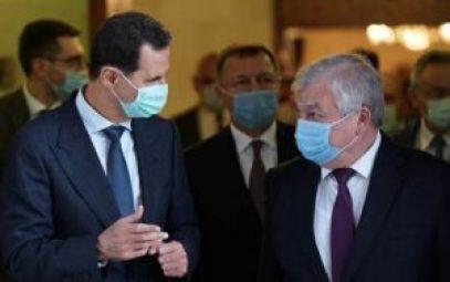 بوتين والاسد 300x188 - مبعوث بوتين يلتقي بشار الأسد لبحث تطورات عدة ملفات.. إليكم التفاصيل