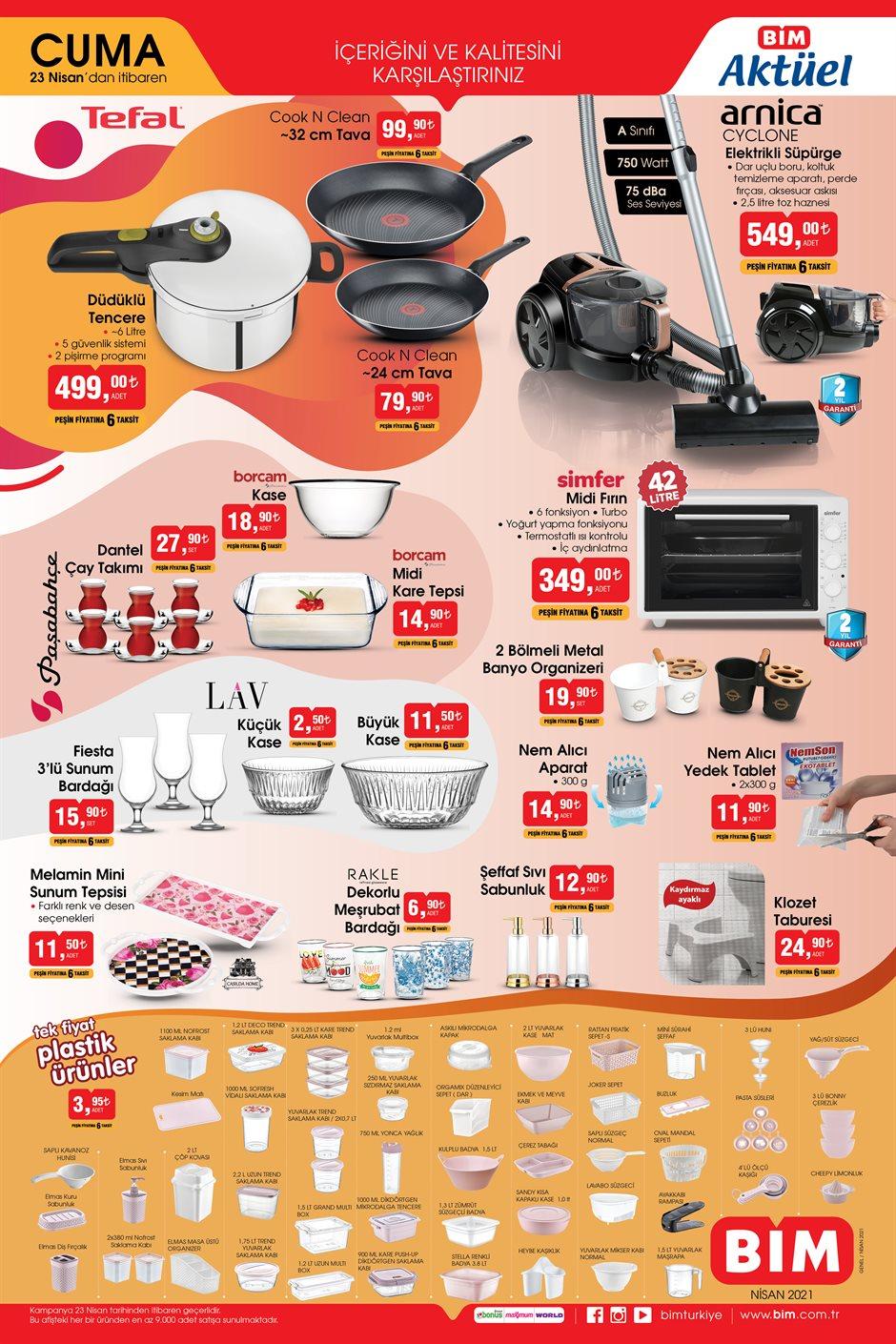afis PVS4H0TQSYT 150 23 nisan tefal - العديد من الأجهزة الإلكترونية والعروض المميزة في متجر بيــم BİM يوم الجمعة 23.04.2021