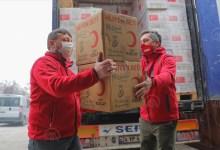 صورة مساعدات غذائية من الهلال الأحمر لـ1350 أسرة فقيرة في هذه المنطقة..إليك التفاصيل