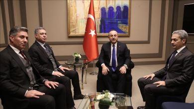 صورة تشاووش أوغلو يستقبل رئيس الجبهة التركمانية العراقية فما الذي تحدثا بشأنه.. إليك التفاصيل