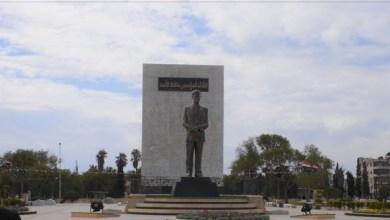 """صورة تفجـ.ـير تمثال لـ""""حافظ الأسد"""" في إحدى حدائق مدينة حلب.. فيديو"""