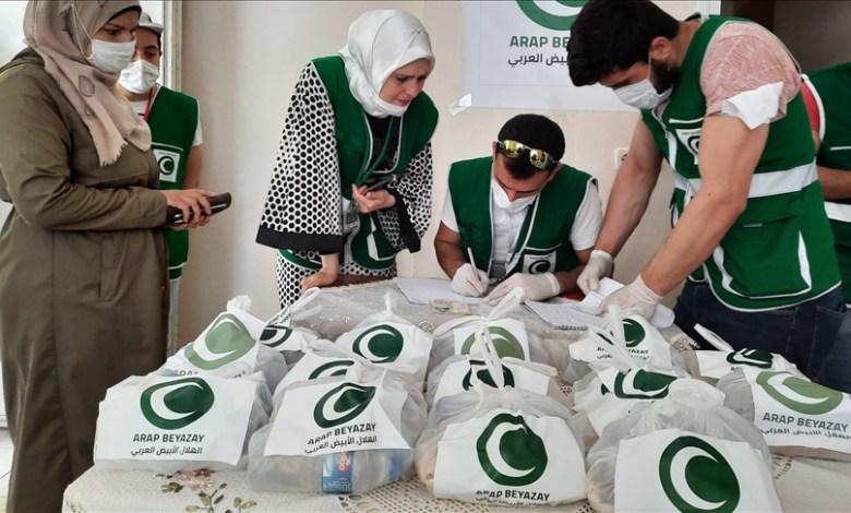 صورة شاهد.. ولاية تركية توزع المعونات للسوريين