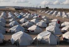 صورة شاهد.. مسؤولون دوليون يتحركون بسبب عبارة مكتوبة على خيمة في سوريا