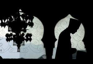 Muslim Prays Inside Baiturrahman Mosque