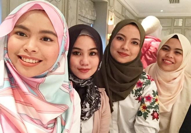 L-R ; Syindah, Me, Diba & Aina