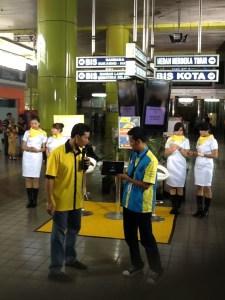 Suasana Drive test di Stasiun Gambir