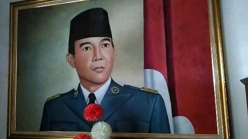 Lukisan Soekarno, sang putra fajar (foto dokpri)