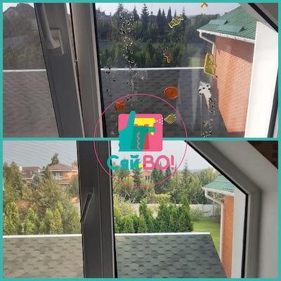 миття мансардних вікон