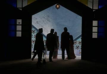 LEDANG 24 DECEMBER 2015. Sebahagian orang ramai yang menyertai Majlis Sambutan Maulidur Rasul Peringkat Negeri Johor di Masjid Jamek Tangkak. Foto Syarafiq Abd Samad