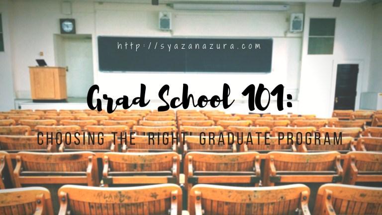 Choosing the right graduate program