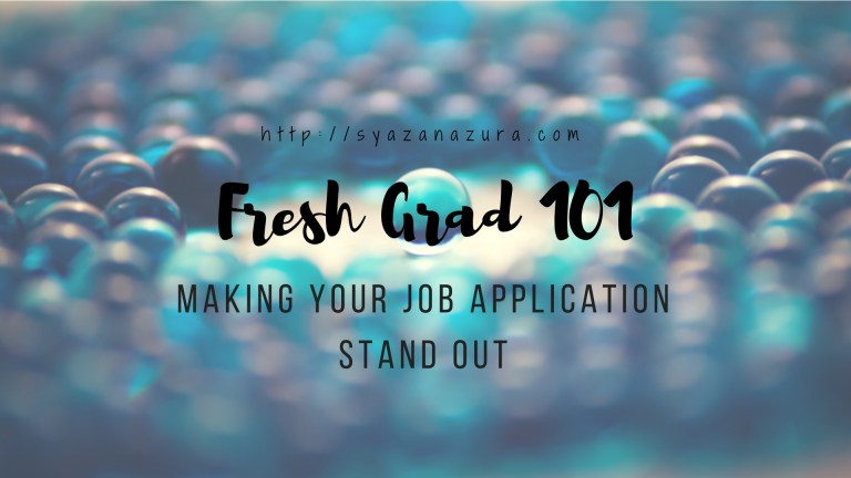 Making your job application stand out