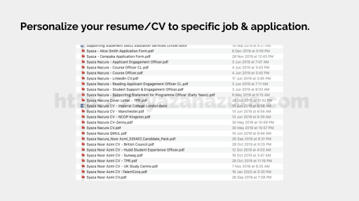 cater resume to job applications