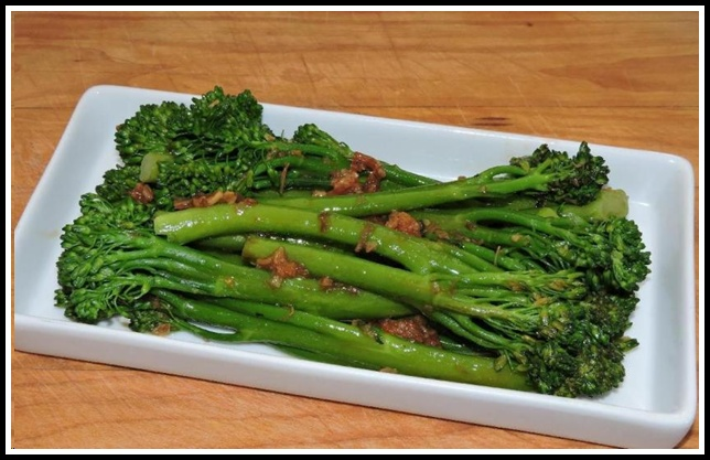 Broccolini in XO Sauce
