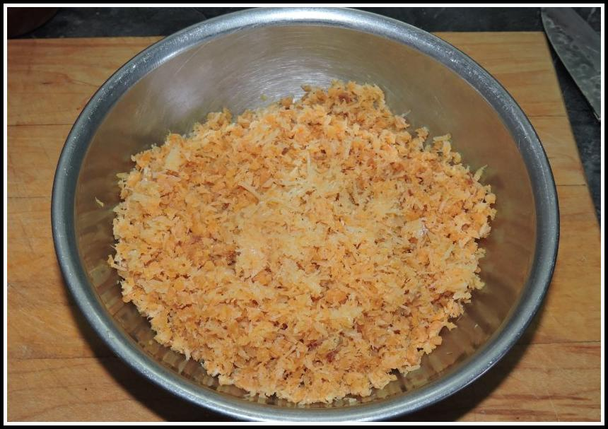 Finely chopped dried shrimp