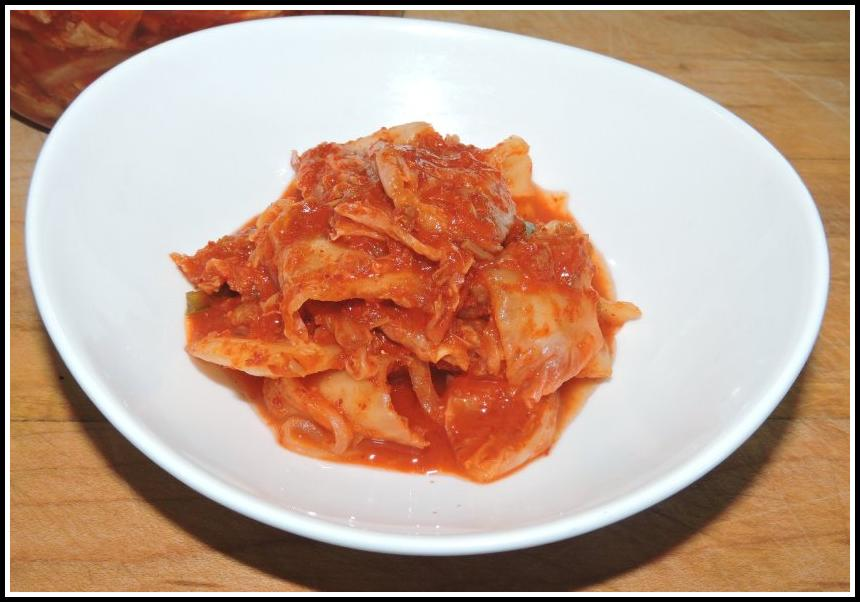Kimchi with Conpoy and Dried Shrimp