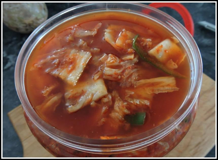 Fermenting Kimchi