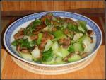 Bok Choy with Braised Mushrooms