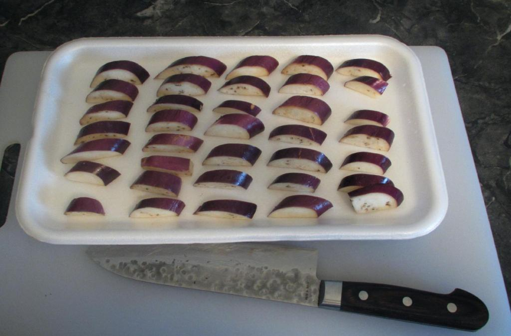 Sectioned Eggplant