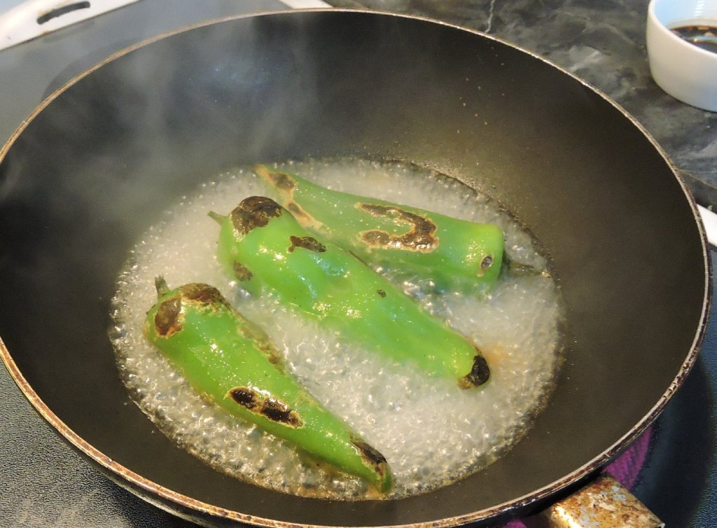 Cooking the Peppers Until Softened