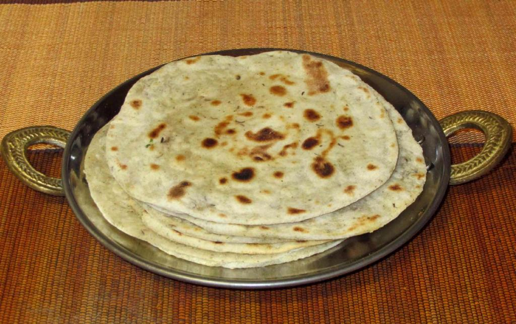 A Stack of freshly cooked Roti