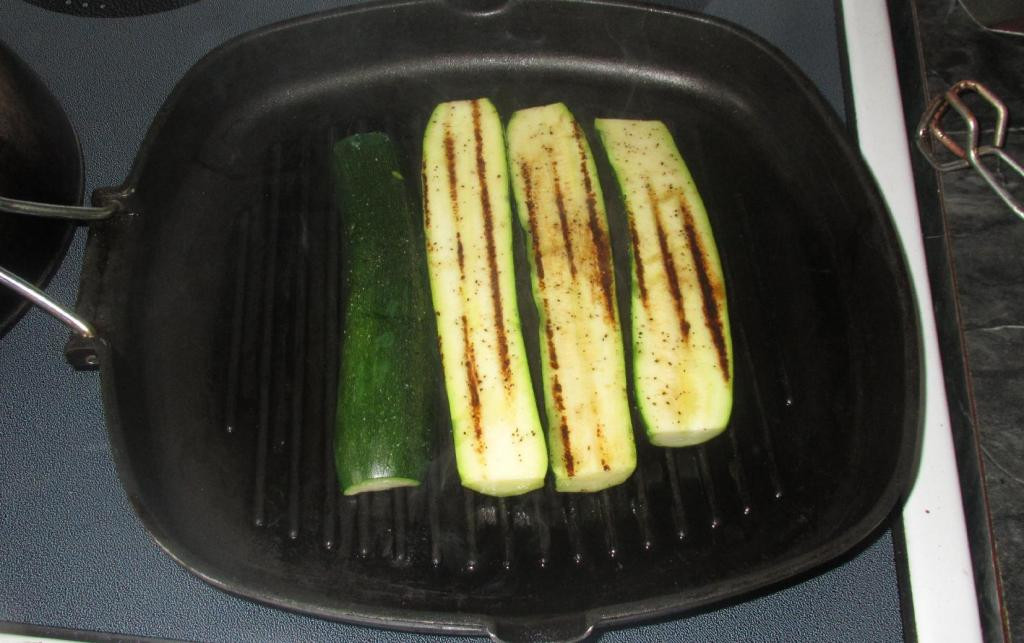 Grilling the Zucchini