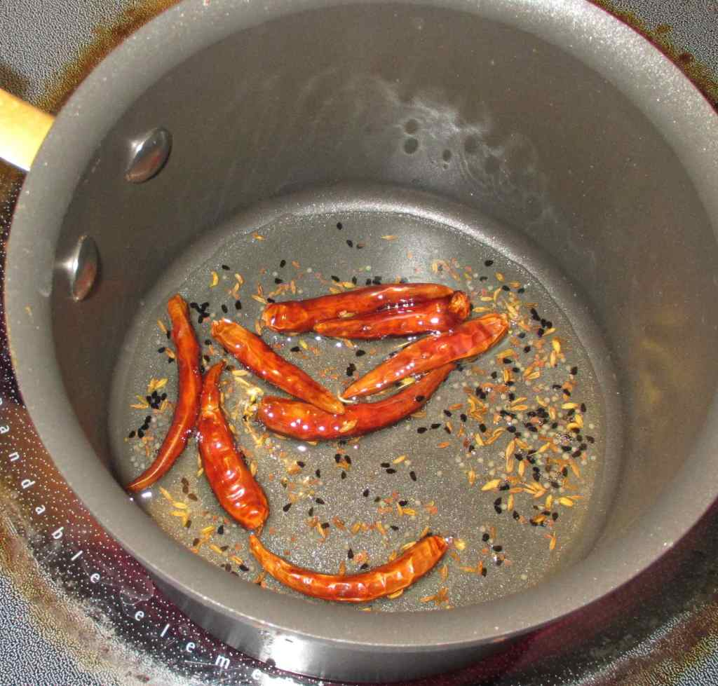 Heating the Spice Blend in Oil
