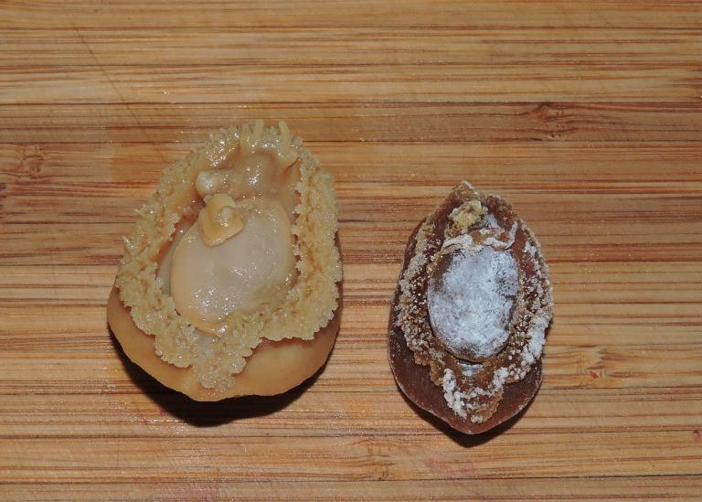 Dried Abalone After and Before Soaking