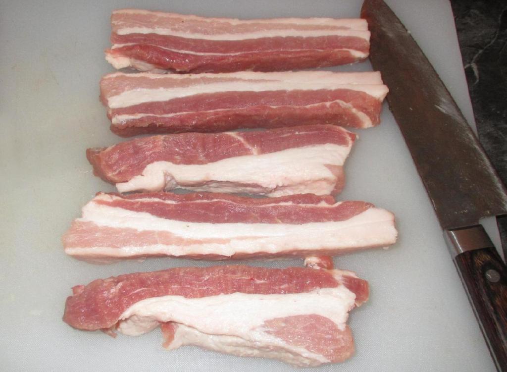 Slices of Pork Belly