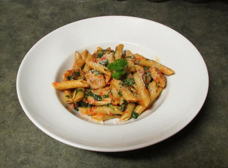 Penne with Red Bell Pepper Sauce