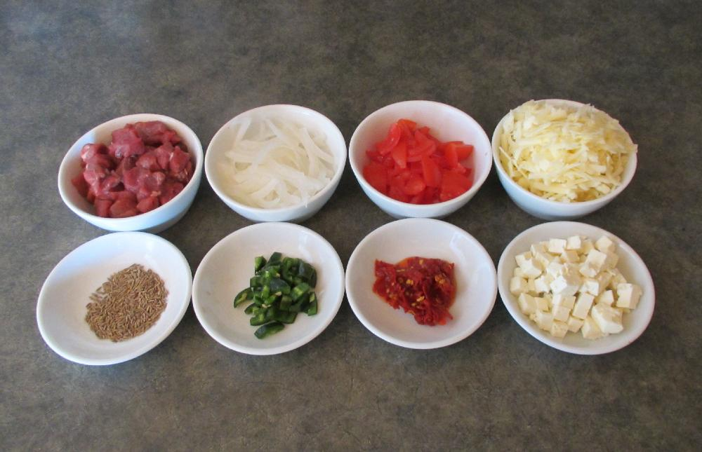 The Naan Pizza Toppings