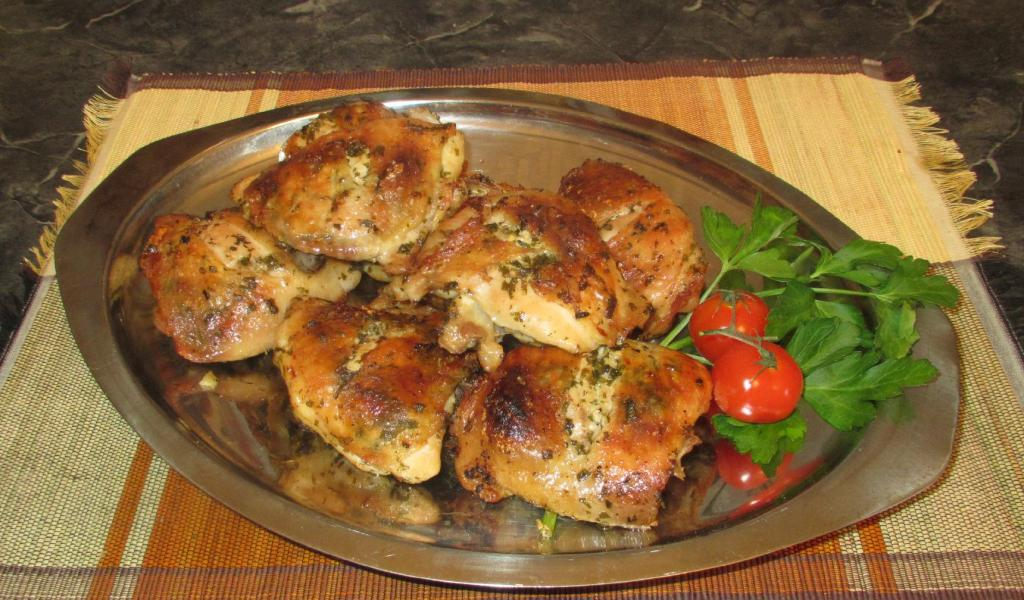 Chimichurri Sauce used as a marinade for Baked Chicken