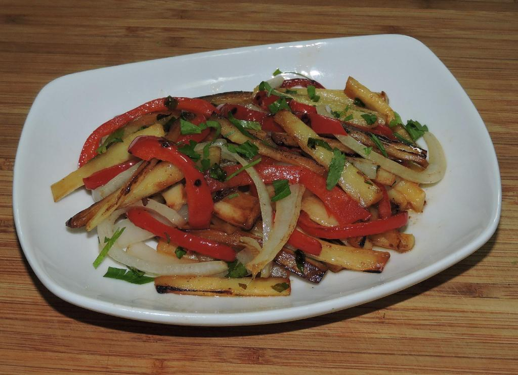Parsnip and Red Peppers in Lemon Butter