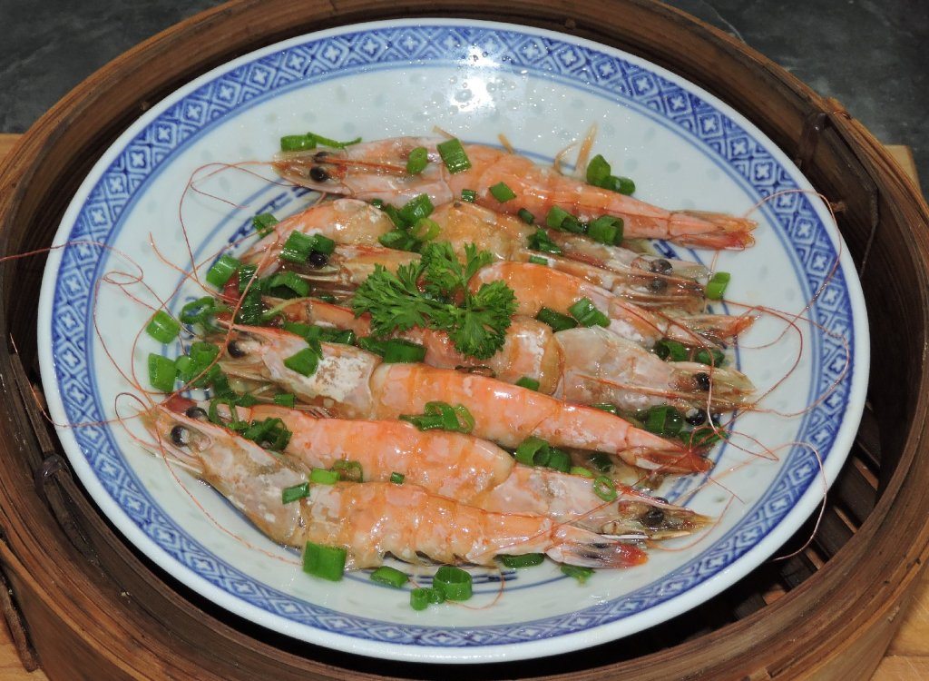 Oil Sizzled Shrimp