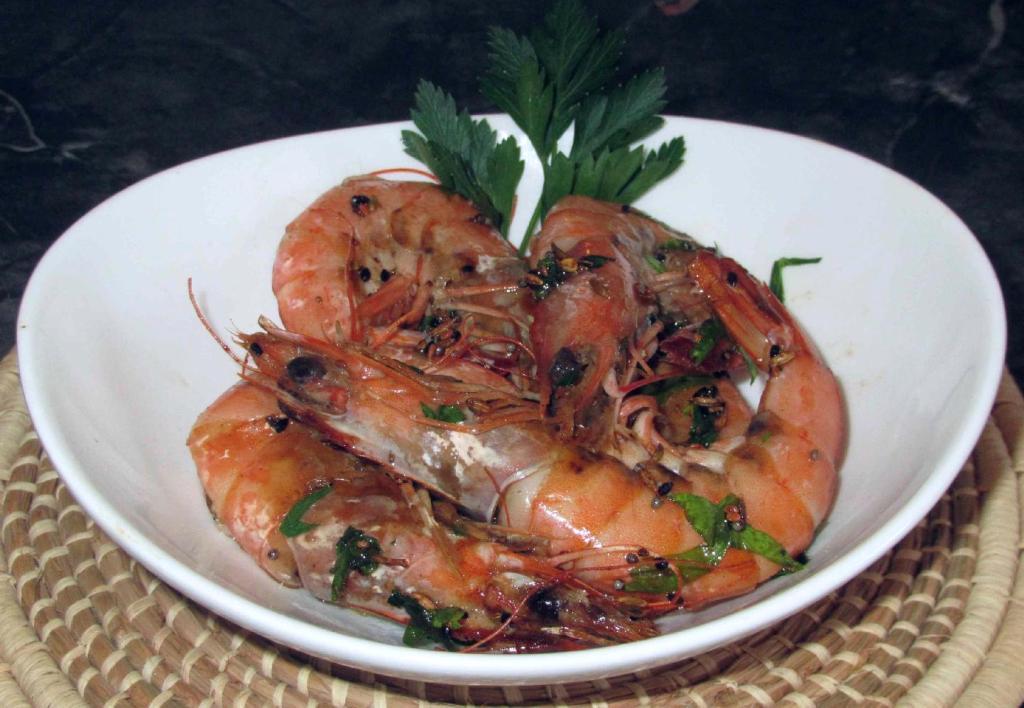 A Shrimp Dish using Panch Phoron