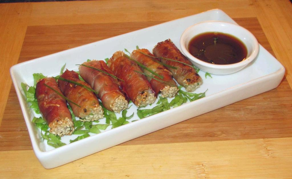 Shrimp Stuffed Prosciutto Rolls