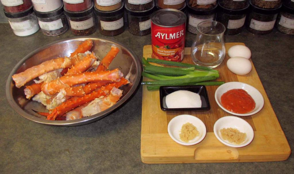 Ingredients for Singapore Chili Crab