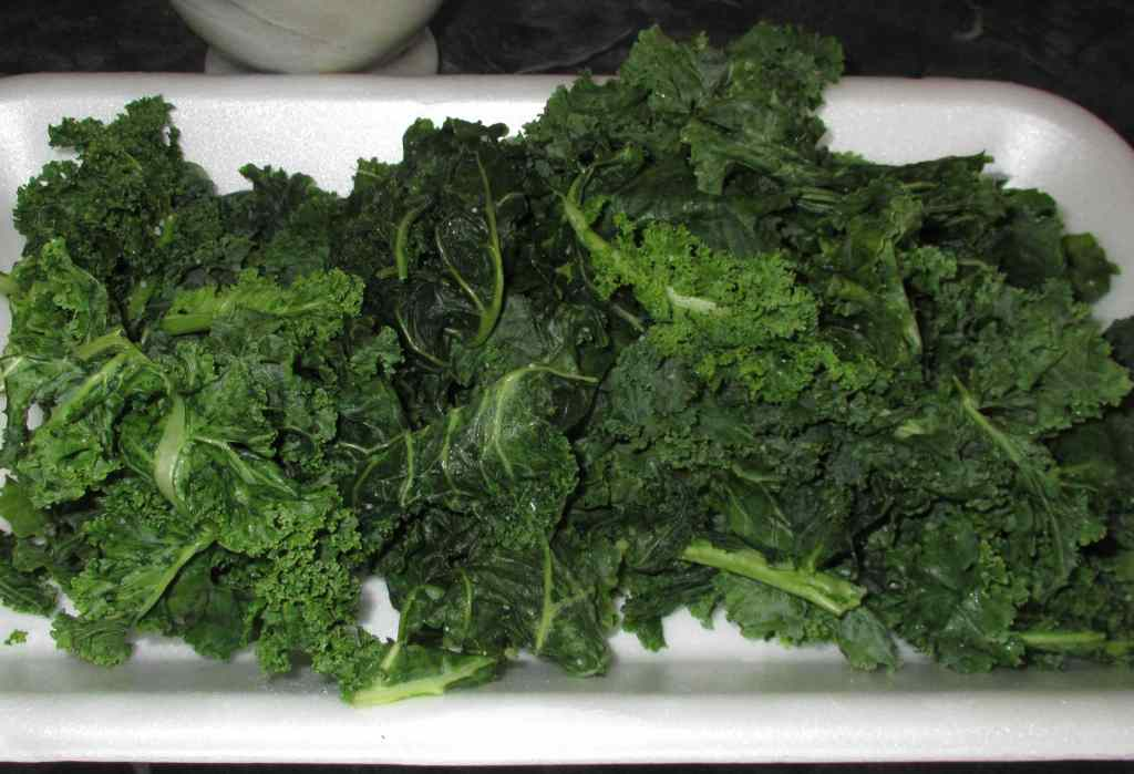Salting Kale Leaves