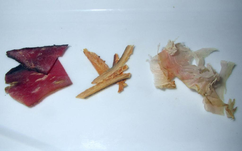 Different forms of Shaved Katsuobushi
