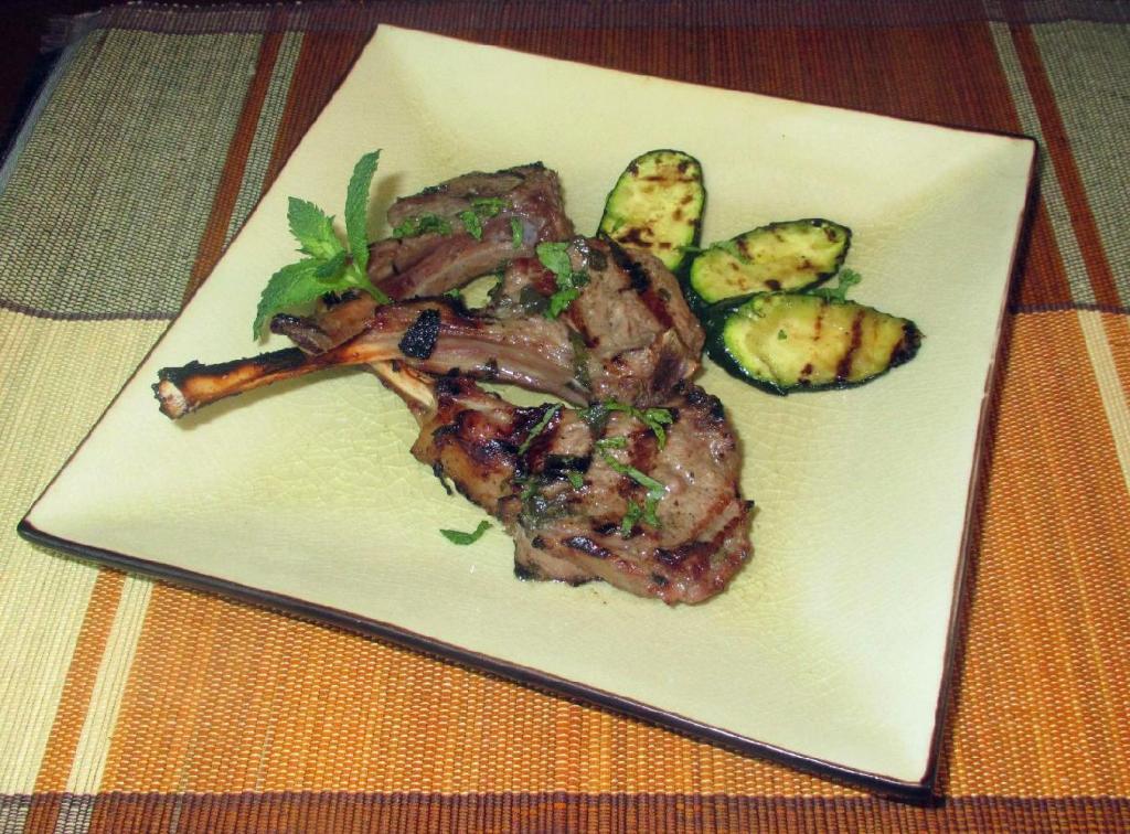 Mint Grilled Lamb Chops
