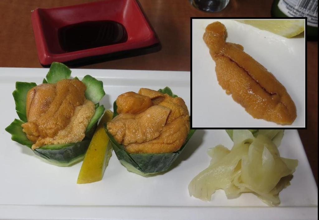 Uni Appetizer at Wasabi