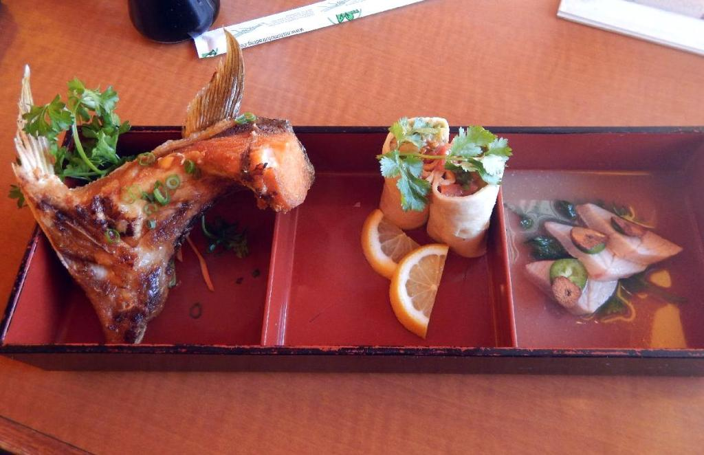 Yellowtail Served Three Ways at Wasabi in Ottawa