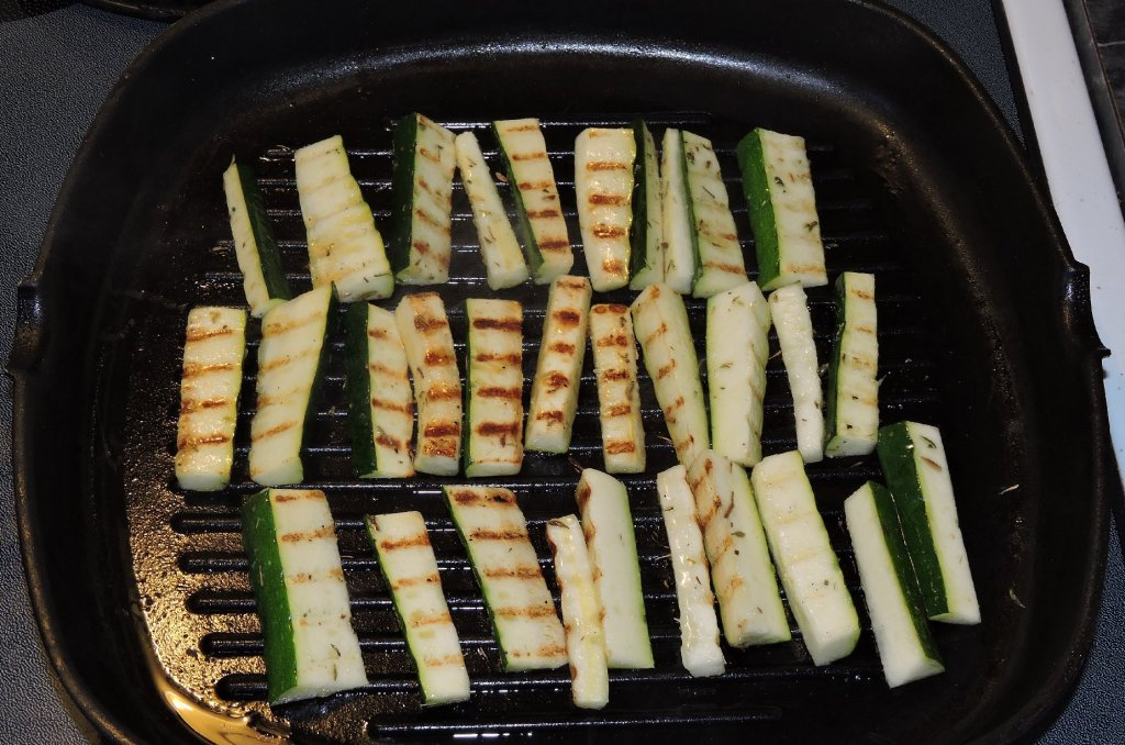 Grilling Zucchini Batons