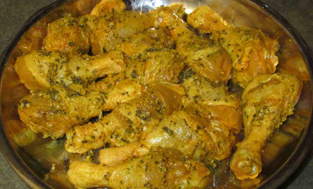 Marinating Chicken with Spices