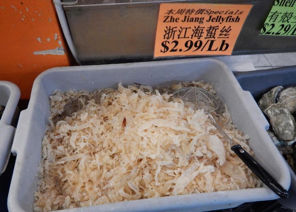 Jellyfish sold in Bulk in an Asian Market